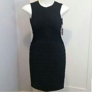 NWT Calvin Klein Black Textured Bodycon Dress / 6
